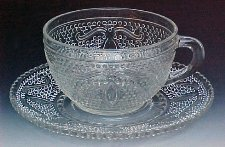 Federal Glass Heritage cup and saucer