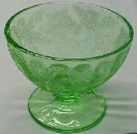 Floral green sherbet - depression glass